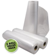 "Weston® 2 Ply Commercial Grade Vacuum Sealer Roll, 18' x 11"", 3/Pack"