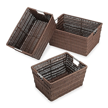 Whitmor Rattique Storage Baskets, Brown