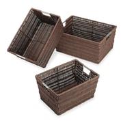 Whitmor Rattique Storage Baskets, Brown