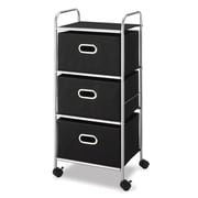 Whitmor Polypropylene Mobile Cart, Black