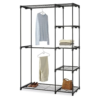 Whitmor Storage Rack, Black Resin/Metal