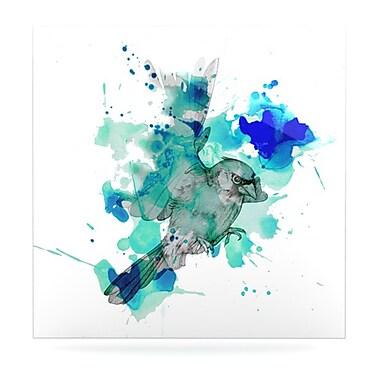KESS InHouse A Cardinal by Kira Crees Painting Print Plaque; 8'' H x 8'' W