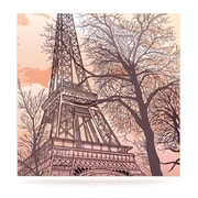 KESS InHouse Eiffel Tower by Sam Posnick Painting Print Plaque; 10'' H x 10'' W