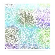 KESS InHouse Blue Bloom Softly for You by Vikki Salmela Graphic Art Plaque; 8'' H x 8'' W