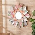 Wildon Home    Caroline Decorative Floral Wall Mirror