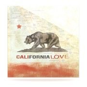 KESS InHouse Cali Love by iRuz33 Graphic Art Plaque; 8'' H x 8'' W