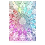 KESS InHouse Rainbow Dots by Monika Strigel Graphic Art Plaque