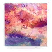 KESS InHouse Souffle Sky by Nikki Strange Painting Print Plaque; 8'' H x 8'' W