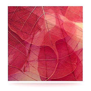 KESS InHouse Delicate Leaves by Ingrid Beddoes Graphic Art Plaque; 10'' H x 10'' W