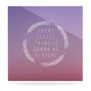 KESS InHouse Little Thing by Anna Farath Textual Art Plaque; 8'' H x 8'' W