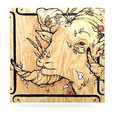 KESS InHouse Ram by Jennie Penny Graphic Art Plaque; 10'' H x 10'' W