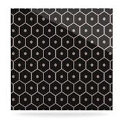 KESS InHouse Tiled Mono by Budi Kwan Graphic Art Plaque; 10'' H x 10'' W