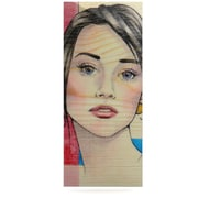 KESS InHouse Face by Brittany Guarino Painting Print Plaque; 21'' H x 9'' W