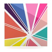 KESS InHouse Boldly Bright by Belinda Gillies Graphic Art Plaque; 10'' H x 10'' W