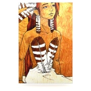 KESS InHouse Owl Feather Dress by Brittany Guarino Painting Print Plaque