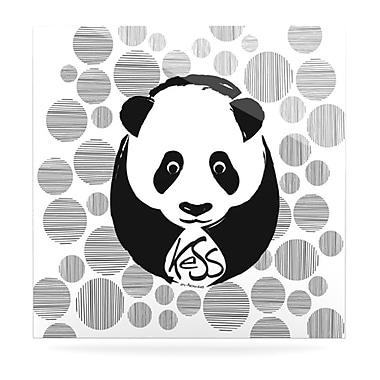 KESS InHouse Panda by Original Graphic Art Plaque; 8'' H x 8'' W