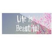 KESS InHouse Life Is Beautiful by Rachel Burbee Graphic Art Plaque