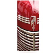 KESS InHouse Chevy by Ingrid Beddoes Photographic Print Plaque in Red and Silver