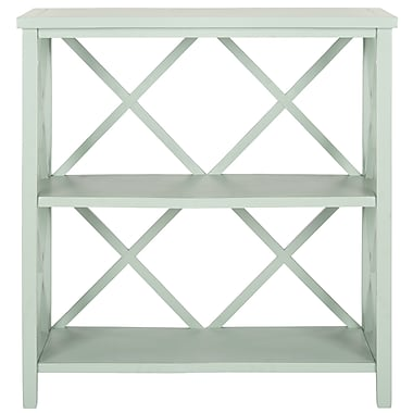 Safavieh Liam 35.6'' Open Bookcase; Medium Grey