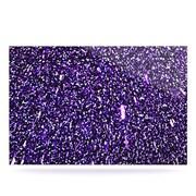 KESS InHouse Purple Dots by Maynard Logan Graphic Art Plaque; 24'' H x 36'' W
