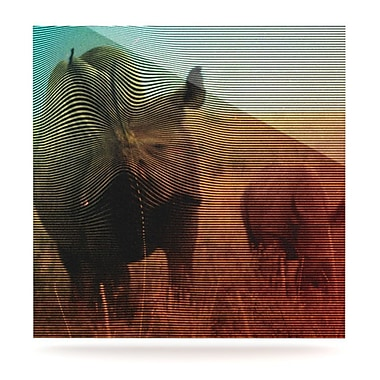 KESS InHouse Abstract Rhino by Danny Ivan Graphic Art Plaque; 8'' H x 8'' W