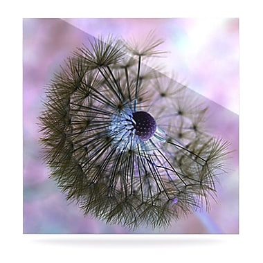 KESS InHouse Dandelion Clock by Alison Coxon Photographic Print Plaque; 8'' H x 8'' W