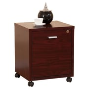 Hokku Designs 1 Drawer Collin Single Equipment Trolley/File Cabinet; Mahogany