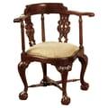 Design Toscano Chippendale Corner Fabric Arm Chair