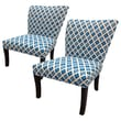 Sole Designs Nile Cotton Wingback Cotton Slipper Chair (Set of 2) (Set of 2)