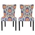 Sole Designs Calandra Cotton Wingback Cotton Slipper Chair (Set of 2)