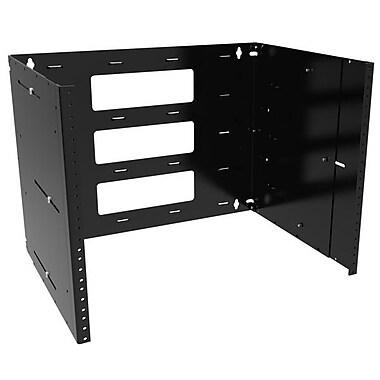 Hammond® 8U Heavy-Duty Adjustable Wall Bracket, Black