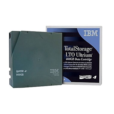 IBM® LTO Ultrium 4 Data Cartridge Library Pack with Barcode Labelling, 800GB/1-3/50TB