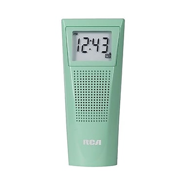 Audiovox® BRC10GRTRAY Splash-Resistant Bathroom Clock Radio, Green