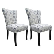 Sole Designs Bella Side Chairs (Set of 2); Blue