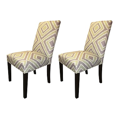 Sole Designs Nouveau Side Chairs (Set of 2); Amethyst