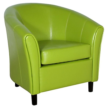 Home Loft Concept Manchester Bonded Leather Barrel Chair; Lime Green