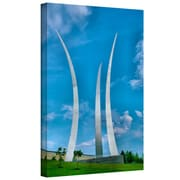 "ArtWall ""Air Force Memorial"" Gallery Wrapped Canvas Art By Steve Ainsworth, 24"" x 16"""