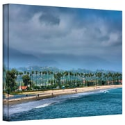 "ArtWall ""The Beach at Santa Barbara"" Gallery Wrapped Canvas Arts By Steve Ainsworth"