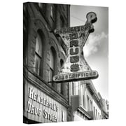 """ArtWall """"Drug Store Sign"""" Gallery Wrapped Canvas Art By Steve Ainsworth, 18"""" x 12"""""""