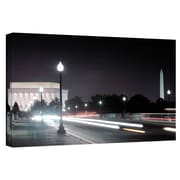 "ArtWall ""Memorial Bridge at Night"" Gallery Wrapped Canvas Arts By Steve Ainsworth"