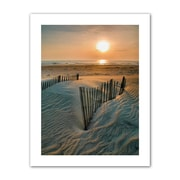 """ArtWall """"Sunrise Over Hatteras"""" Unwrapped Canvas Art By Steve Ainsworth, 24"""" x 18"""""""