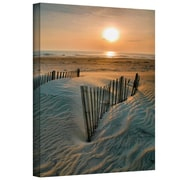 """ArtWall """"Sunrise Over Hatteras"""" Gallery Wrapped Canvas Art By Steve Ainsworth, 24"""" x 18"""""""