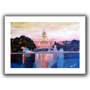 ArtWall Capitol Flat Unwrapped Canvas Art By Martina and Markus Bleichner, 32 x 48