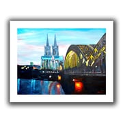 """ArtWall """"Cologne"""" Flat Unwrapped Canvas Art By Martina and Markus Bleichner, 18"""" x 24"""""""