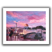 "ArtWall ""Jerusalem"" Flat Unwrapped Canvas Arts By Martina and Markus Bleichner"