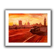 ArtWall London Bus Dusk Flat Unwrapped Canvas Art By Martina and Markus Bleichner, 18 x 24