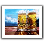 ArtWall Two Beers Flat Unwrapped Canvas Art By Martina and Markus Bleichner, 36 x 48