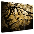 ArtWall in.Gold Rendition: Japanese Treein. 3 Piece Gallery Wrapped Canvas Art By John Black, 36in. x 54in.