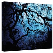 "ArtWall ""Ice Blue Eve: Japanese Tree"" 3 Piece Gallery Wrapped Canvas Art By John Black, 24"" x 36"""
