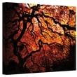 ArtWall in.Japanese Tree Silhouette on Redin. Gallery Wrapped Canvas Art By John Black, 36in. x 48in.